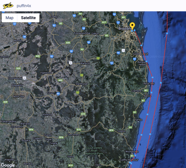 Coffs to Brisbane Tracker